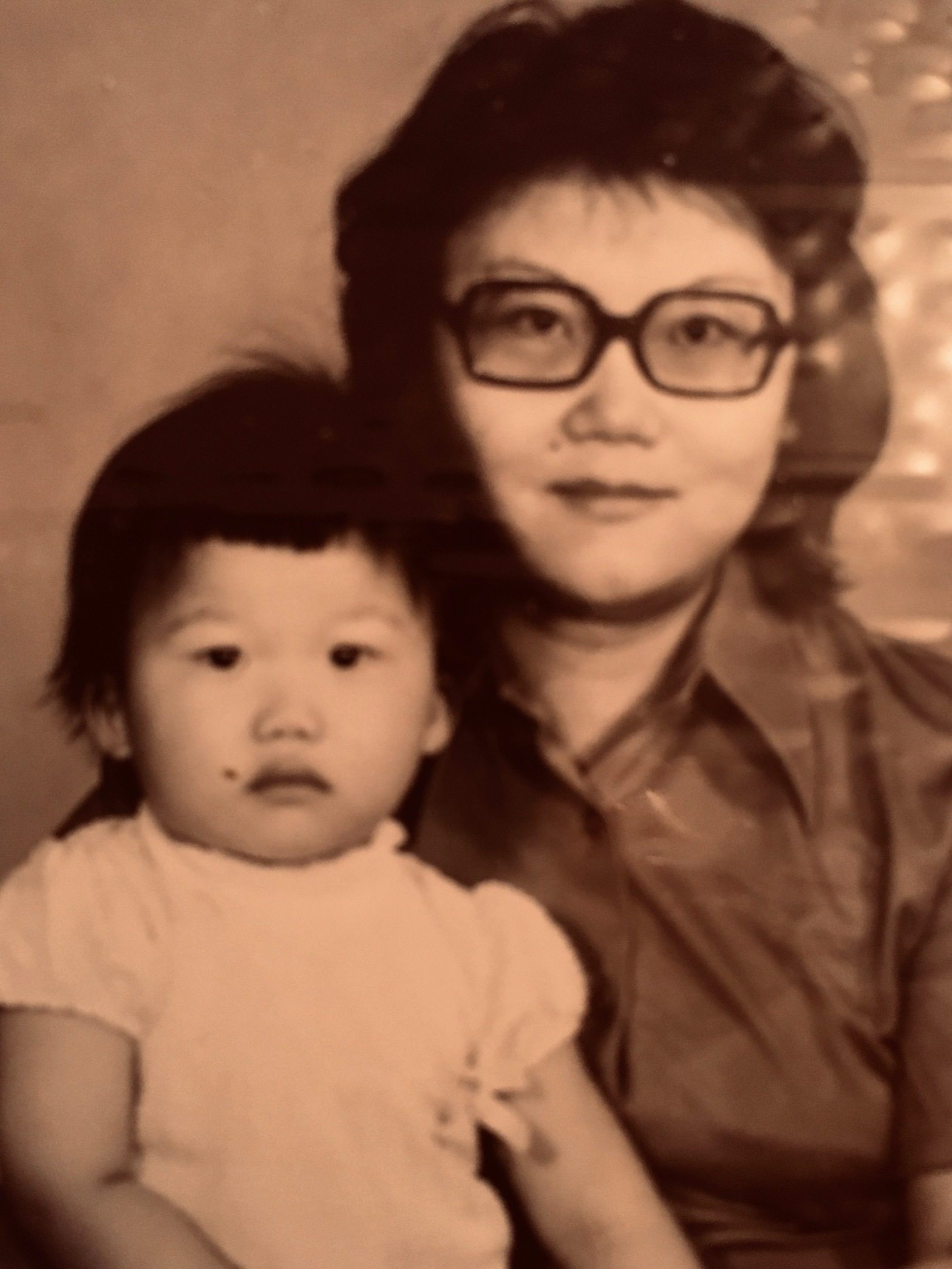 Karen Wong-Brown at two years old and her mother